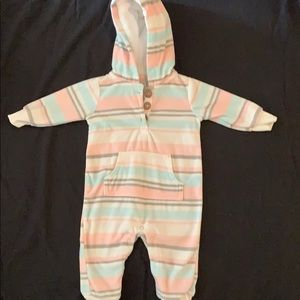 Babygirl fleece one piece outfit